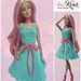 Fashion doll bow tie dress pattern