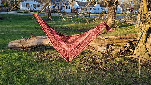 Large Shawl in Neighborhood Fiber Co. Yarns