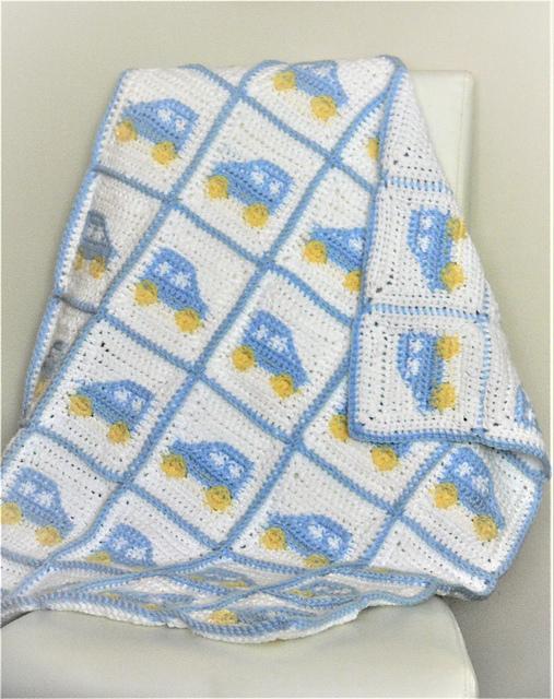 Ravelry Crochet Baby Boy Blanket Car Granny Square Pattern By Meadowvale Studio