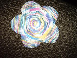 Flower washcloth finished!