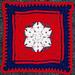 Patriot Star Afghan Square pattern