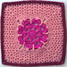 Winter Rose Afghan Square pattern