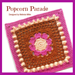 Popcorn Parade Afghan Square pattern