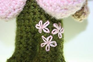 Leg embroidery