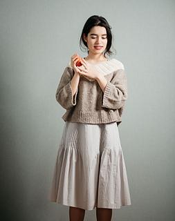 3/4 sleeves & wide cuffs, worsted weight merino yarn