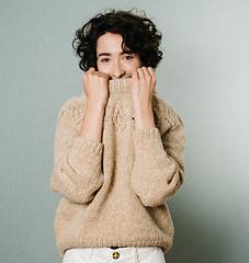 "Lamb wool, beige, size M2, wider neckline, 28 cm / 11"" positive ease"