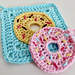 Donut Face Scrubby and Washcloth pattern
