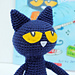 Pete the Cat Amigurumi Pattern pattern