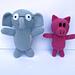 Elephant and Piggie Amigurumi pattern