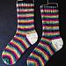 The Q Train Socks pattern
