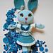 Miss Blue Buttons Vintage Bunny pattern