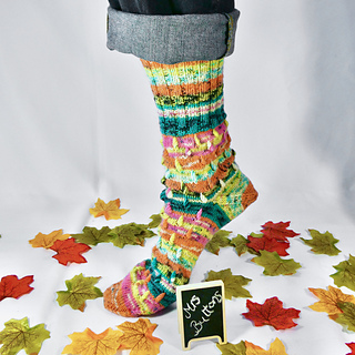 Candle Flame Socks