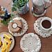 Ruffle Coasters pattern