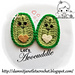 Avocado Halves Applique pattern