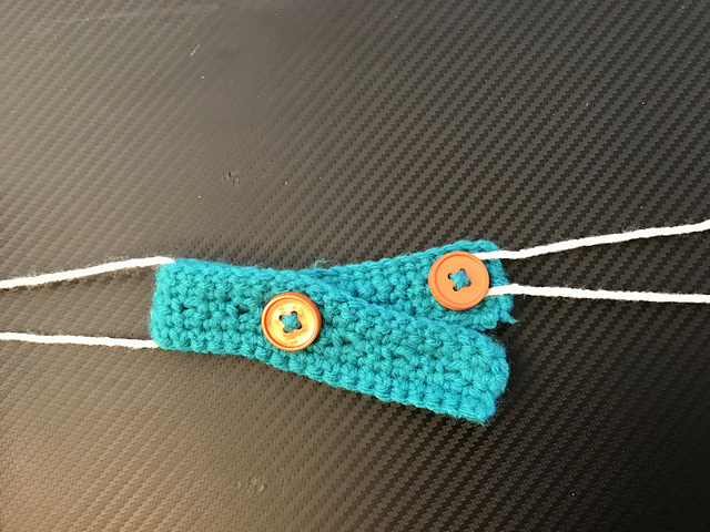 Ravelry Adjustable Buttonhole Ear Savers For Masks Pattern By