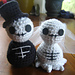 Skeleton Bride and Groom pattern