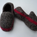 Kids Slippers Loafer Style Felted Knit pattern