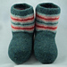 Women's Felted Boot Style Slippers pattern