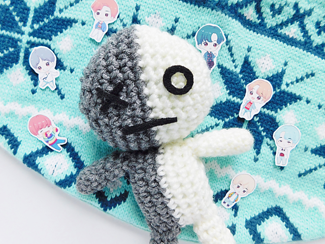 BT21 Mang Plush ♥ Crochet Pattern   Häkelanleitung, Häkelarbeiten ...   480x640