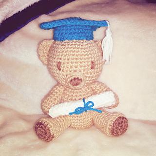 Graduation Teddy pattern by Holly's Hobbies | Crochet teddy bear ... | 320x320