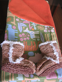 Baby Faux-Uss booties and blanket