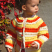 Country Cardigan sizes 6-9 months, 12 months, and 24 months pattern
