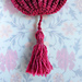 Crochet-Wrapped Tassel with Twisted Chain Cord pattern
