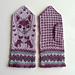 Tiny Dogs mittens pattern