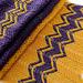 Purple Gold Scarf pattern