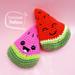 Watermelon baby rattle pattern