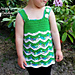 Tropical Waves - Lacy Chevron Top pattern