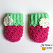 Blooming Berry Baby Mittens pattern