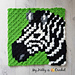 Zebra C2C Square pattern