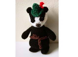 Realistic crochet badger amigurumi pattern | Etsy | 235x320
