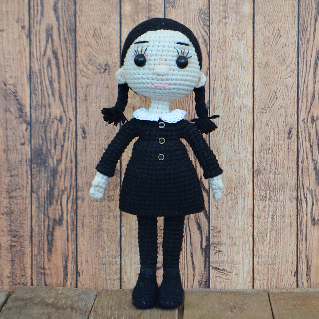 2 ft tall Chibi Punk Girl Crochet Doll| Knit Fashion Doll| Pastel ... | 640x640