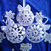 Christmas snowballs and snowflake pattern