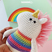 Unico, the Rainbow Unicorn pattern