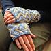 Zigzag wrist warmers pattern