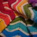 Cheery Wave Ripple Blanket pattern