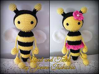 Zeno Bumble Bee amigurumi pattern by airali design (With images ... | 240x320