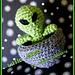 Little Alien in Spaceship pattern
