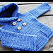 Hooded Baby Sweater Coat with Pockets #016 pattern