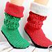 Christmas Santa and Elf Booties pattern