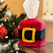 Santa Belt Tissue Box Cover pattern