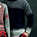 Men's Pullover with Geometric Patterns pattern