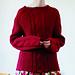 p.19 red aran sweater pattern