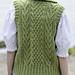 #22 Basket Stitch Vest(Lady's) pattern