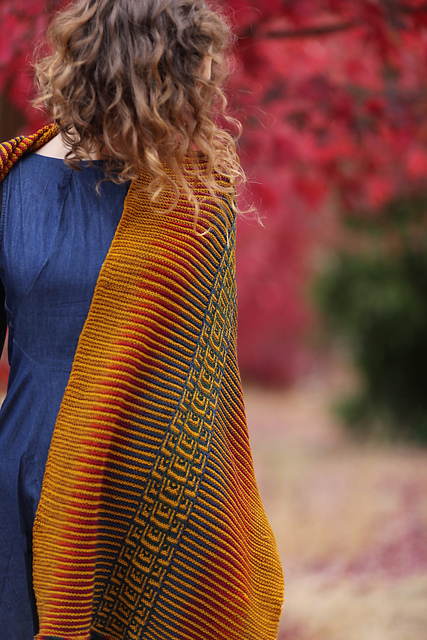 Koi Pool Shawl by Nim Teasdale