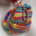 N2L Rainbow Backpack Keyring pattern