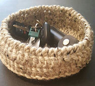 This is a small organizational basket that gives you a place to put your keys!